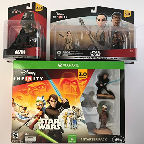 DISNEY INFINITY 3.0 EDITION STARTER PACK FOR XBOX ONE BUNDLE WITH STAR WARS :THE FORCE AWAKENS PLAY SET + DARTH VADER FIGURE
