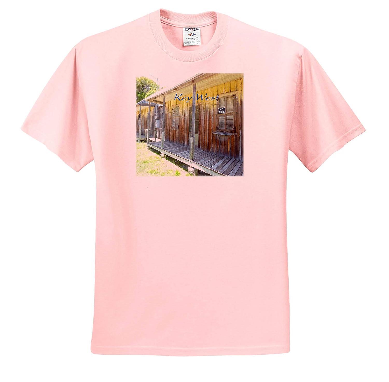 ts/_309800 3dRose Lens Art by Florene Image of Old Original Home in Key West Florida Adult T-Shirt XL Florida