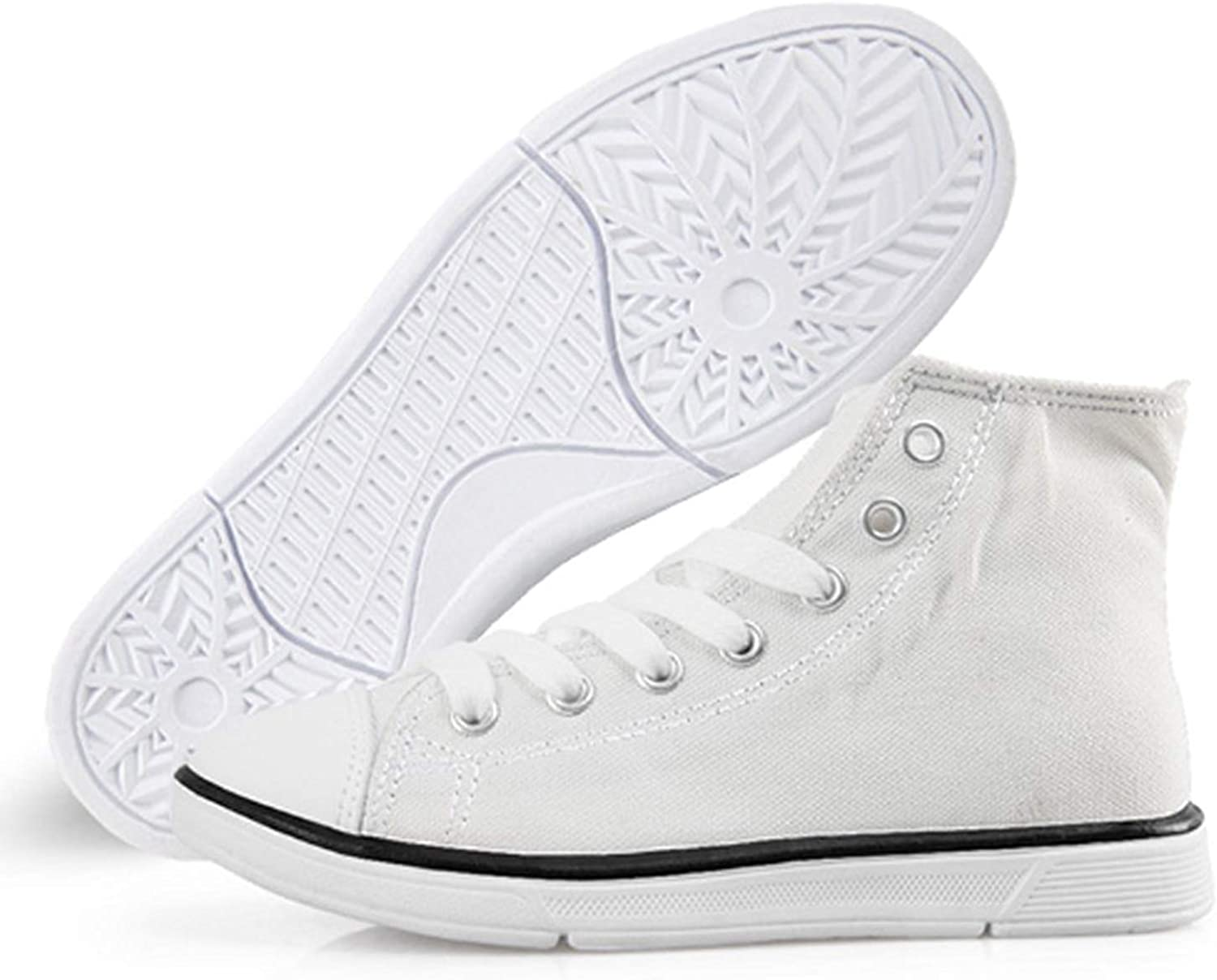 FOR U DESIGNS Kids Canvas Sneaker High Top Flats Classic School Shoes for Youth Toddler