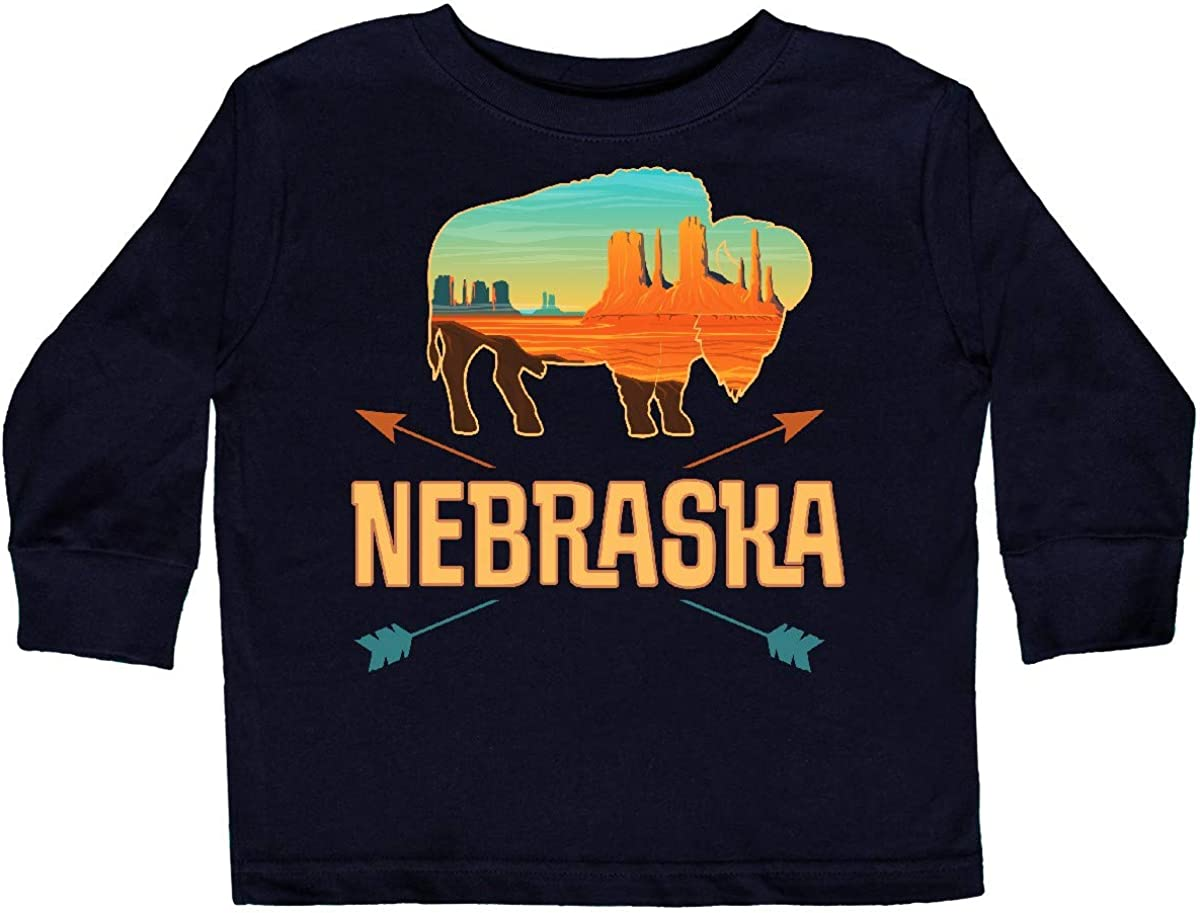 inktastic Nebraska Vacation Buffalo Toddler Long Sleeve T-Shirt