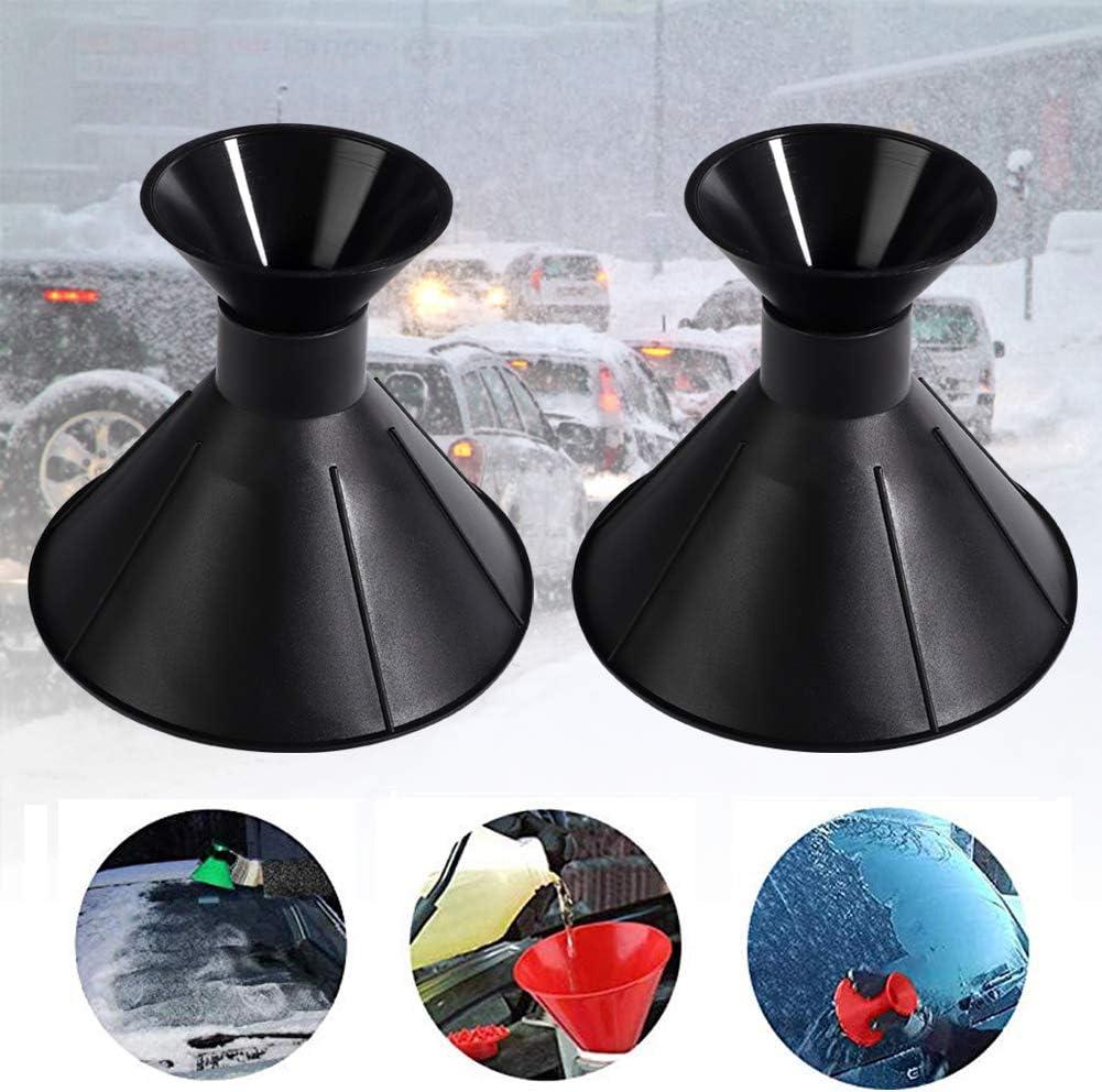 2 Pack Car Windshield Ice Scraper,Snow Scraper Magic Cone-Shaped Ice Funnel Snow Removal Tools Snow Breaker