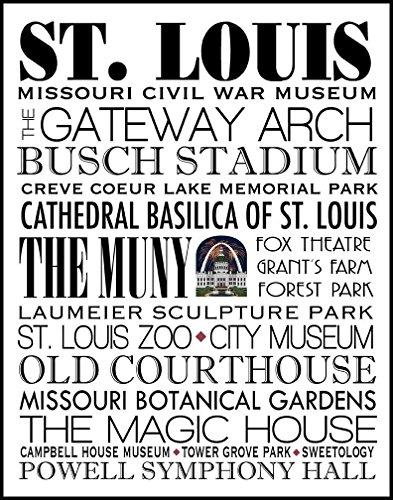 St Louis Print 11 x 14 - Louis Cardinals Stone