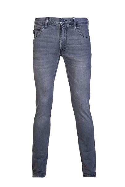 Amazon.com: Emporio Armani Extra Slim Fit Dark Grey Jeans ...