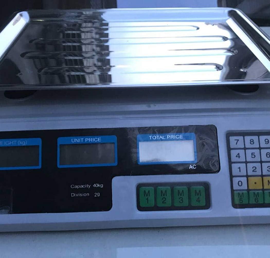 para Pesar Frutas y Verduras LYDRX 40 kg b/áscula Comercial Digital B/áscula electr/ónica Profesional para el Comercio