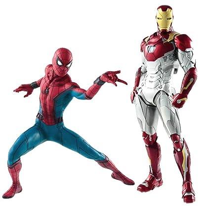 DJKFH Juego de Juguetes Spiderman y Iron Man, Juego de ...