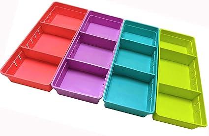 Organizador de cajones, smartmyhome ajustable cajón armario ...
