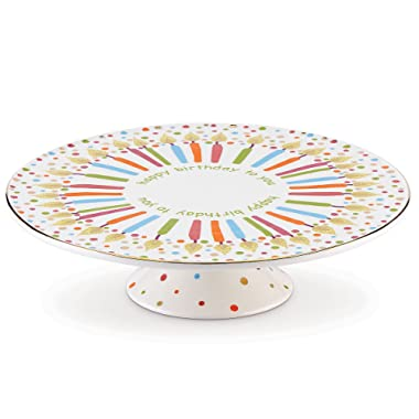 Lenox Candles and Confetti Musical Birthday Cake Plate