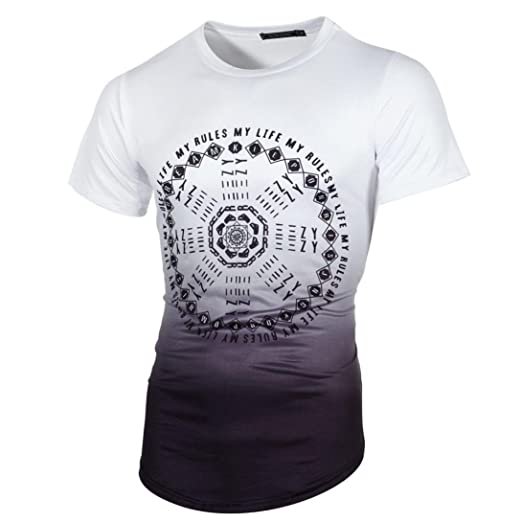 RETUROM -Camisetas Camiseta para Hombre, Manga Corta con Cuello en V para Hombre de Manga Corta Camiseta con Cuello en V de Camiseta Casual: Amazon.es: Ropa ...