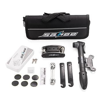 SHUNING Bike Herramientas multifunción, Kits de herramientas de reparación de bicicletas, Kit de herramientas