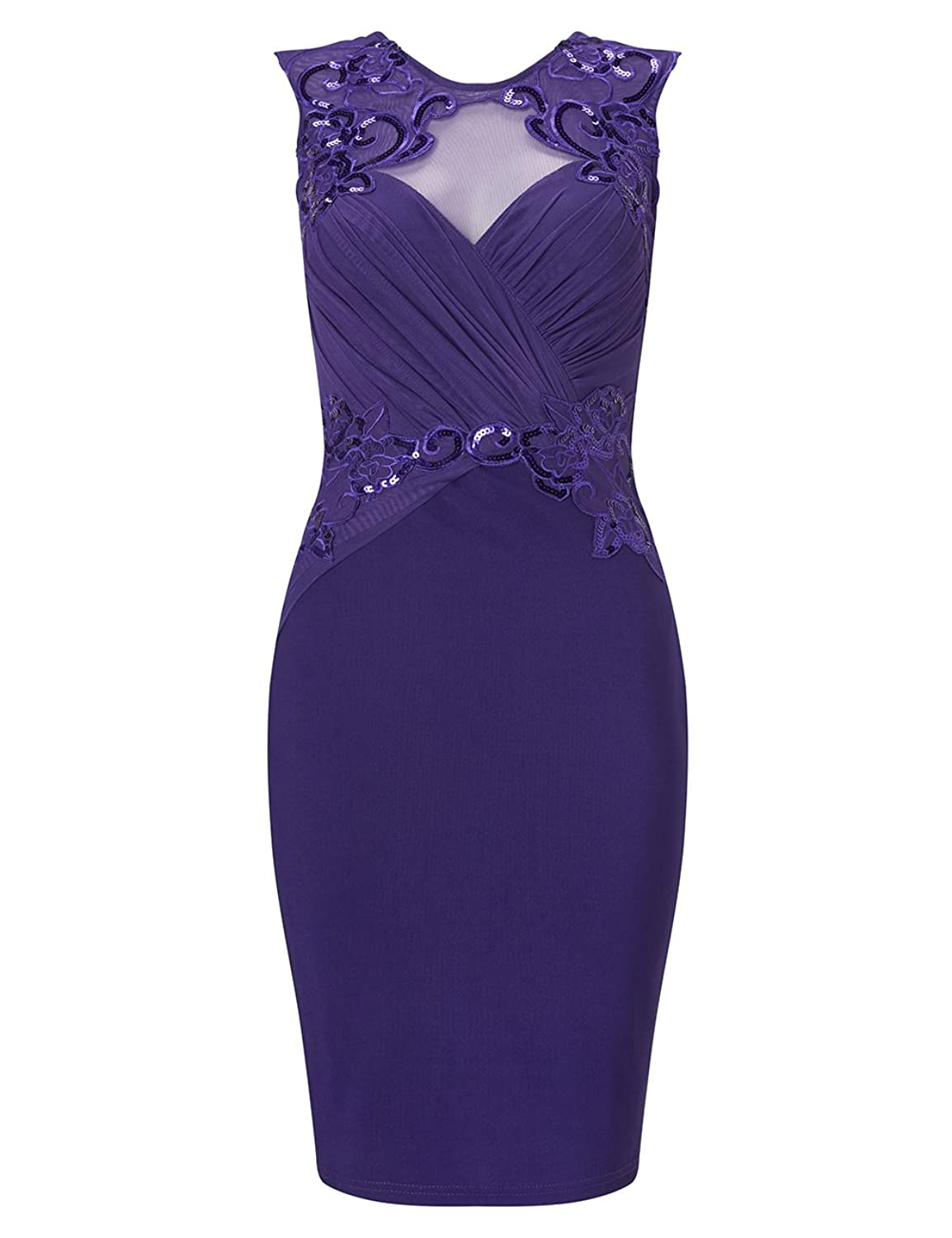 LIPSY Womens Loves Michelle Keegan Ruched Sequin Detail Bodycon ...