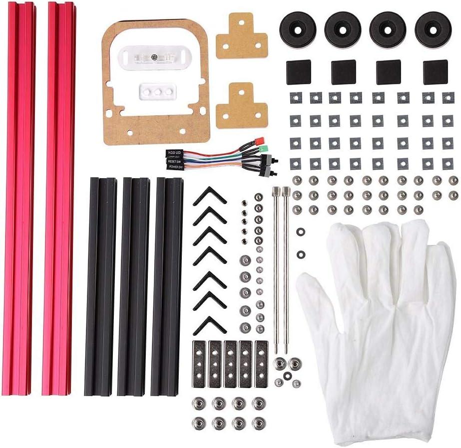 Aluminum Alloy Frame ITX Motherboard PC Computer Case Black Red Zopsc DIY Mini ATX ITX Bracket