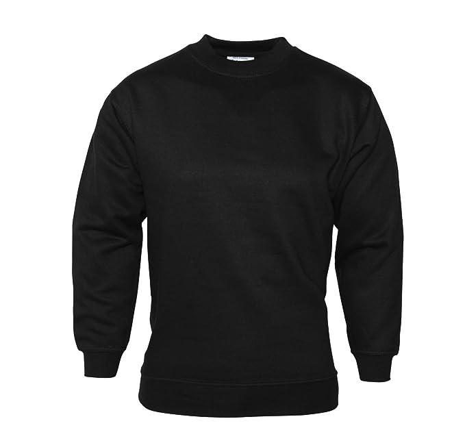 para Hombre Plain Sudadera Jersey Jumper Sweater Pullover Trabajo Casual Ocio Top Negro Negro XXX-Large: Amazon.es: Ropa y accesorios