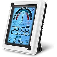 yidenguk Termómetro Higrómetro Digital para Interiores, Medidor de Humedad y Temperatura Interior Termohigrómetro con…