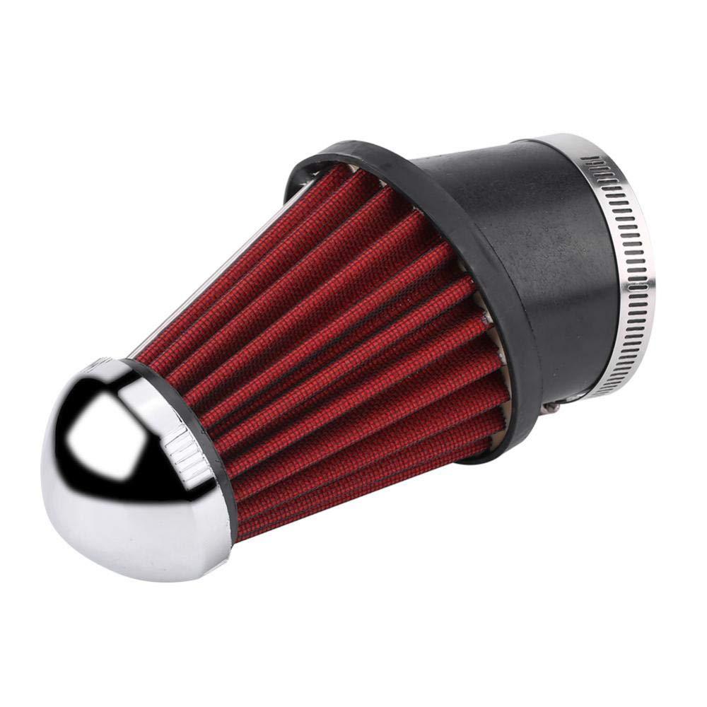 alta universal curva de espuma de hongo Qiilu Filtro de aire limpiador de filtro de entrada de entrada de aire para coche de 63 mm