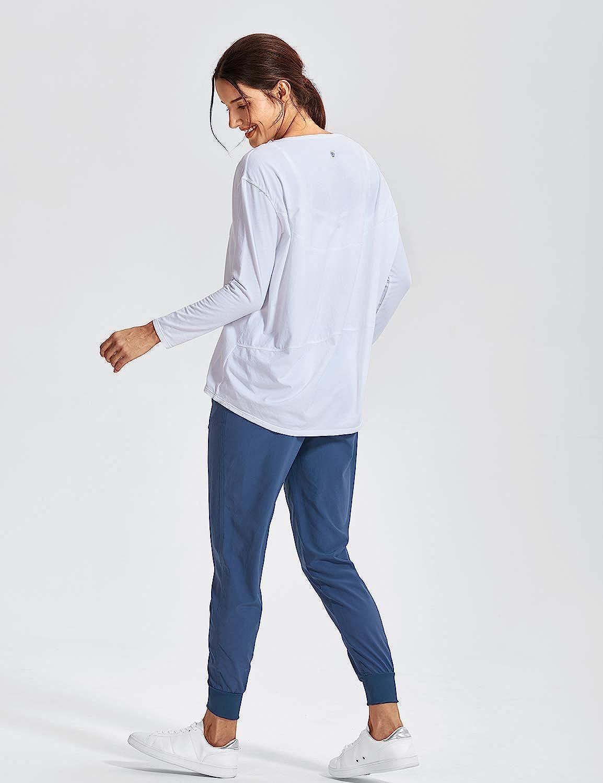 CRZ YOGA Donna Pima Cotone Casual Maniche Lunghe T-Shirt Loose Fit Abbigliamento Sportivo