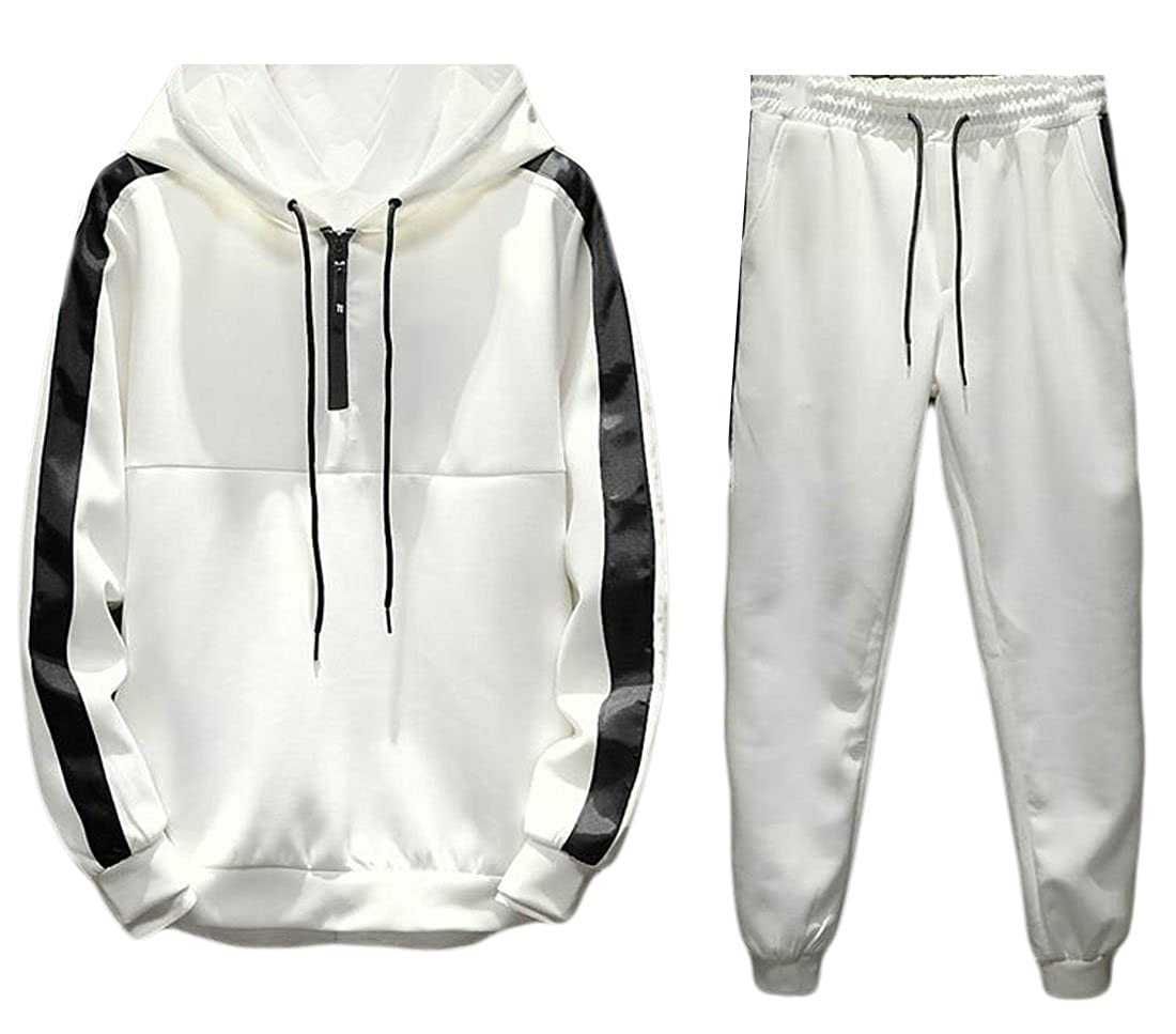 2778cb7d6c92d Alion Men's Active Stylish Hooded Sweatshirt Top and Sweatpant ...