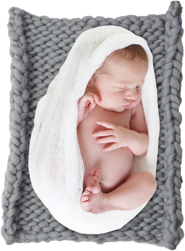DrCosy Riesigen Stricken Dicke Garn Ddecke Sperrige Gestrickte Werfen Pet Bett Neugeborenen DIY Fotografie Decorator Stuhl Sofa Baby-Foto mat teppich 50 cm 50 cm