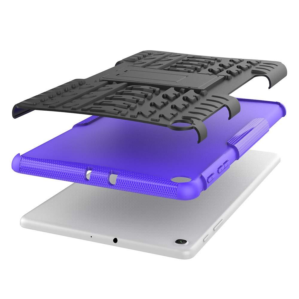 TPU Silicone Funda con Stand Protecci/ón para Samsung Galaxy Tab A 10.1 T510//T515 2019 Cover Case Carcasa Armor Style Hybrid PC P/úrpura XITODA Samsung Galaxy Tab A 10.1 2019 Funda