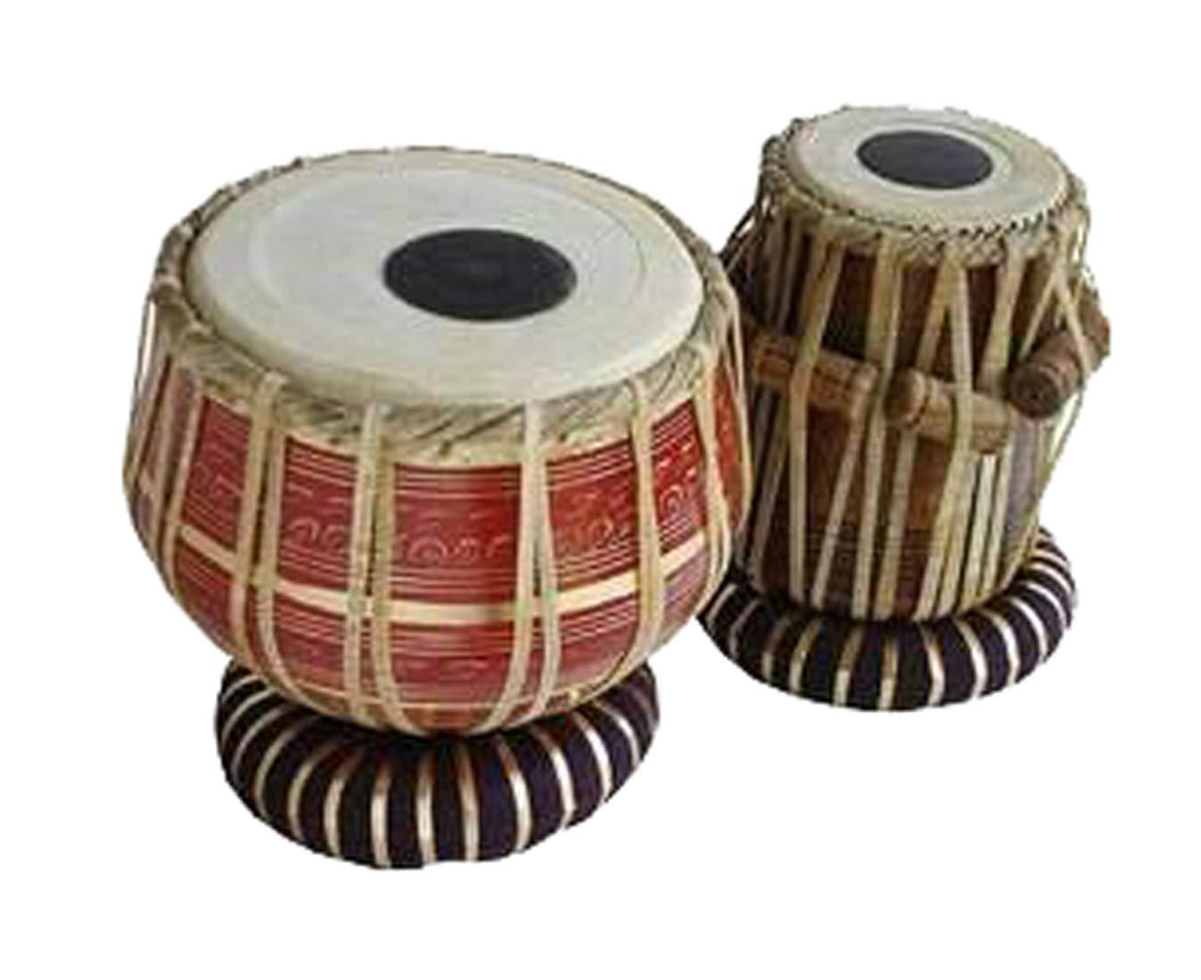 【数量限定】 Makan Red Printed Set Brass Bayan, & Blemished Finest Dayan Tabla Cushion Set Percussion Musical Instrument with Carry Bag & Cushion B07QDRBBT5, 仕事着広場:397f1aac --- a0267596.xsph.ru