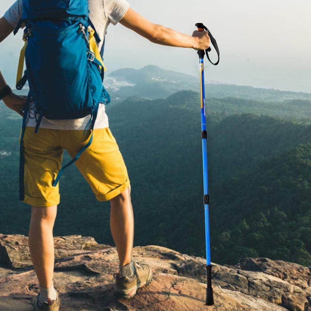 Alomejor Bast/ón de Trekking al Aire Libre con Espuma de EVA Manija Plegable Bast/ón antichoque de Fibra de Carbono para Escalar Trekking Viajes Senderismo Ultraligero Plegable