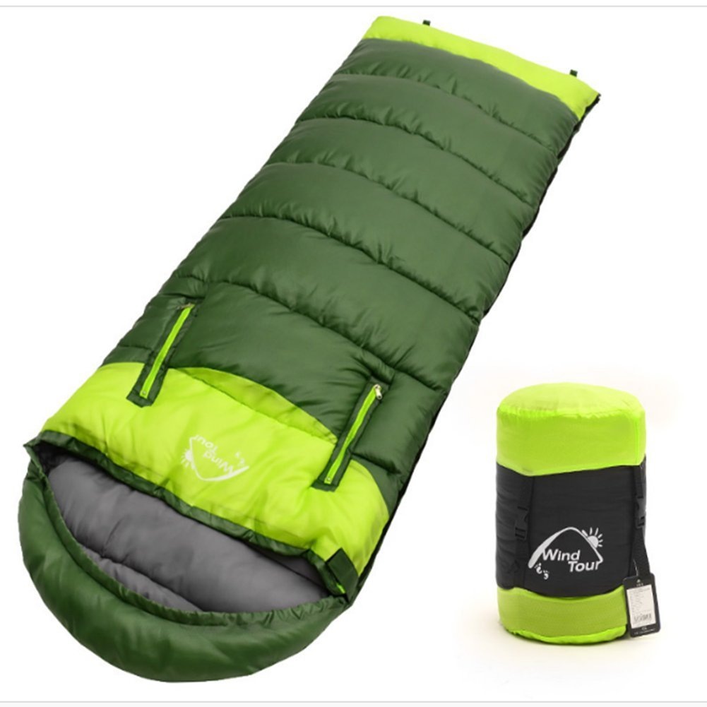 Sleeping Bag - Outdoor Compressible Portable Waterproof Sleeping Bag, Stretch Hand for Design Thicker Warm Envelope Type Sleeping Bag, Suitable for Four Seasons, Hiking, Camping, Backpackers, Men and Women Christmas Gifts HI Sunny