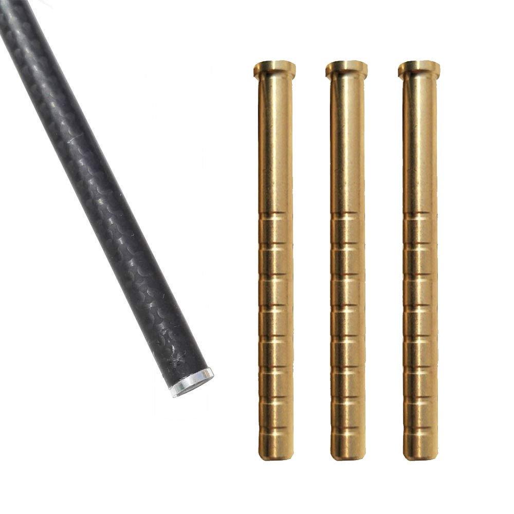 Milaem 100-300 Grain Carbon Pfeil Einf/ügung Kupfer Pfeil f/ür ID 6,2mm Pfeil Welle Kann Gewicht Pfeil Einf/ügung Pack von 30