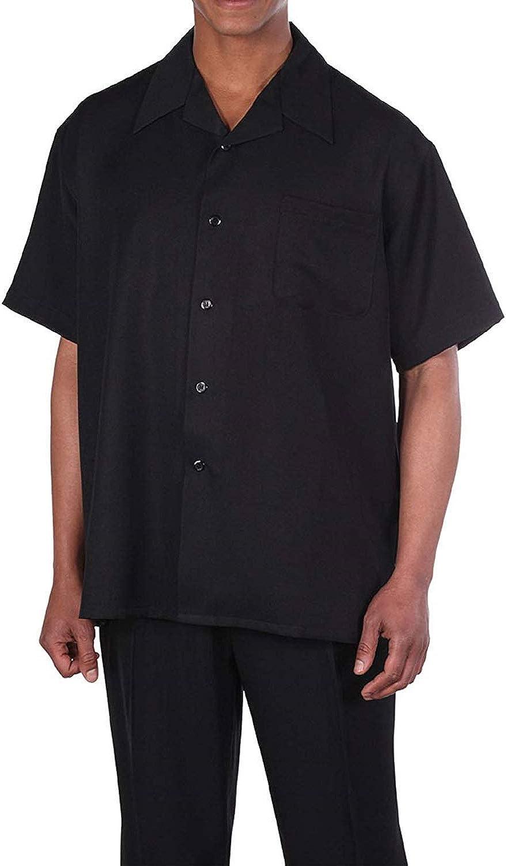 Milano Moda 100% Lino Walking Set (Camiseta y Camisa de Manga Larga para Hombre). 5 Colores