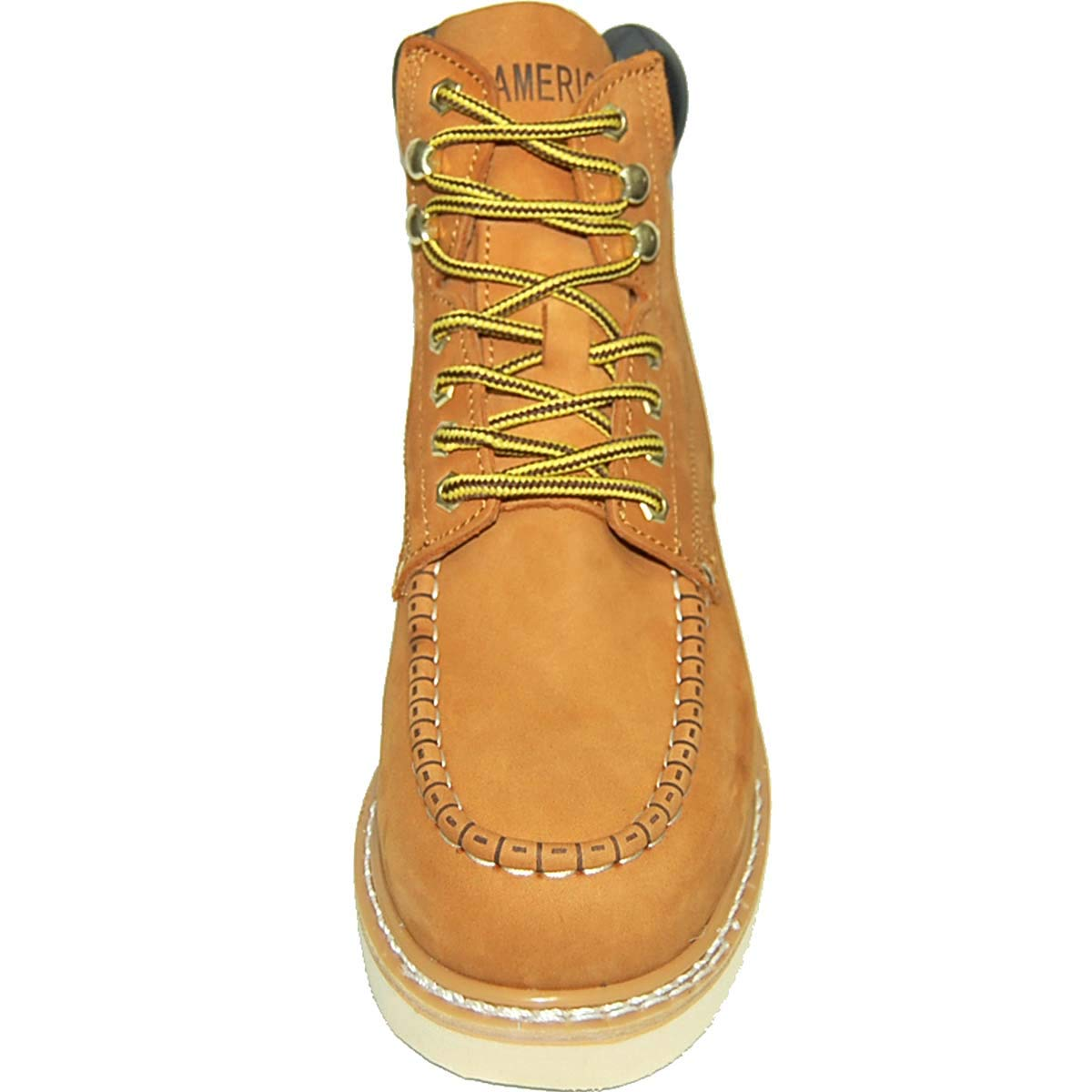 1211f1e1dd1 Krazy American Men's Leather 6 Inch Moc Toe Men's Light Weight Work Boots |  Wheat Color