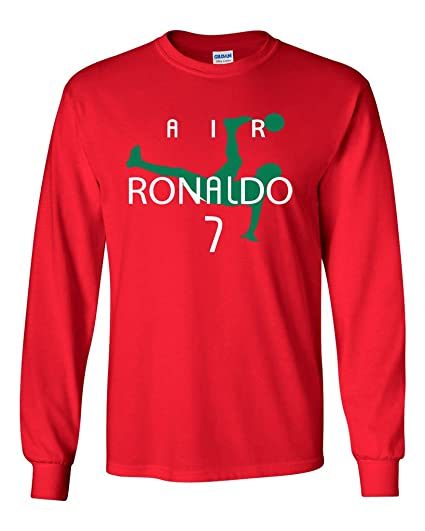 check out 222df 23ae8 KING THREADS Long Sleeve Cristiano Ronaldo Ronaldo Portugal Red T-Shirt