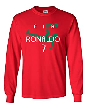 "Manga larga Cristiano Ronaldo ""Ronaldo Portugal"" rojo camiseta, ..."