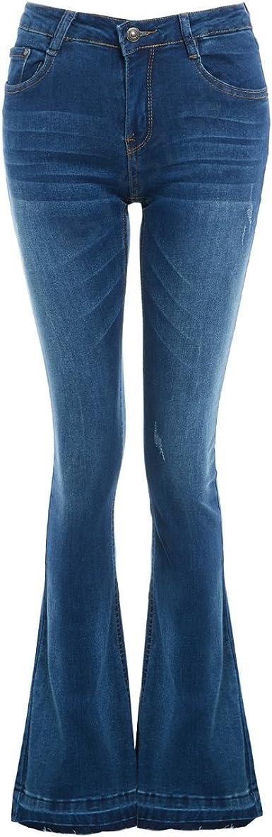 Pantalones vaqueros SS7 para mujer, ajustados a Jean Flare – vaqueros con corte vaquero