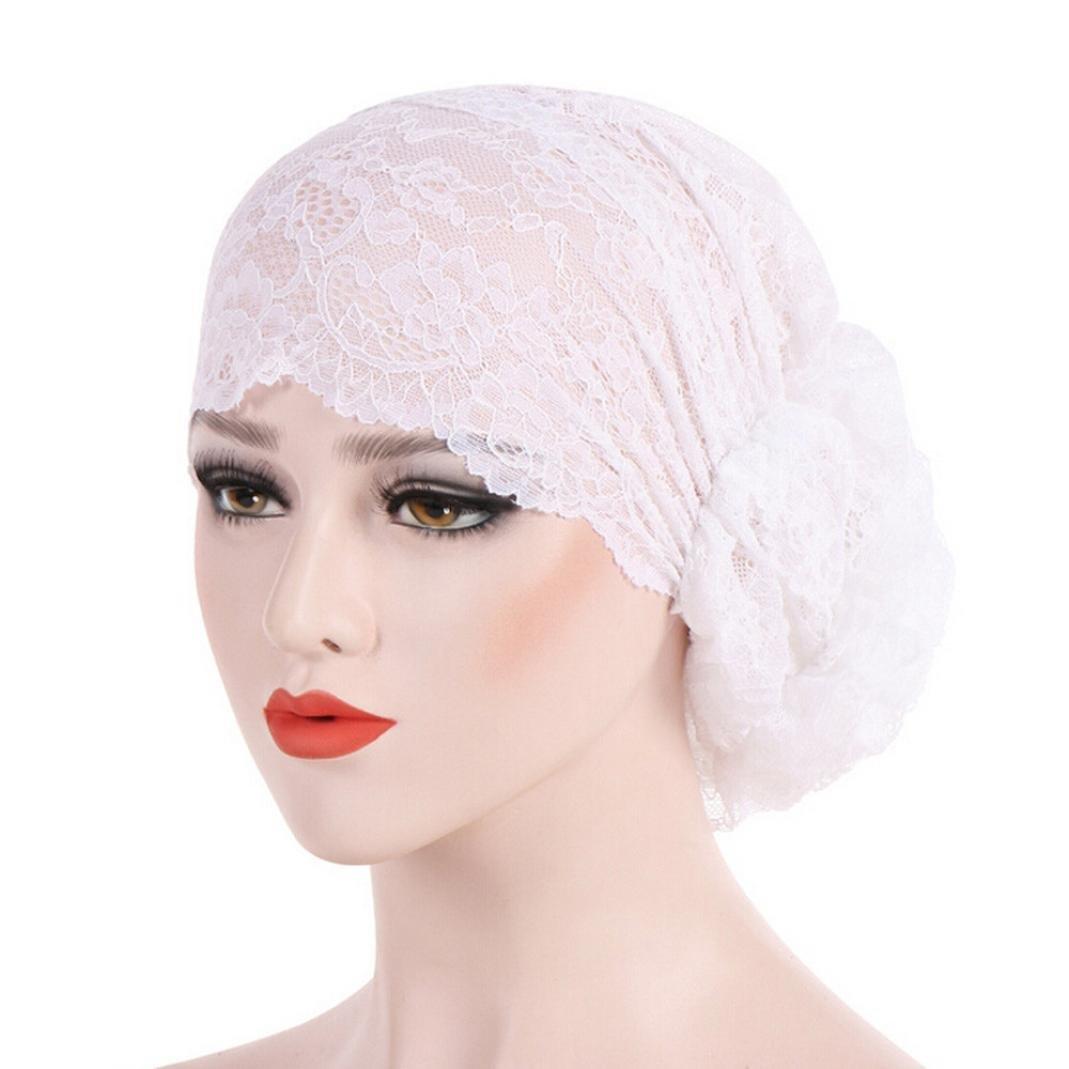 f5f425460007 Mamum Chapeau Rétro, Chapeau Doux Turban Foulard Islamique Bonnet Chimio  Perte de Cheveux Cancer ...