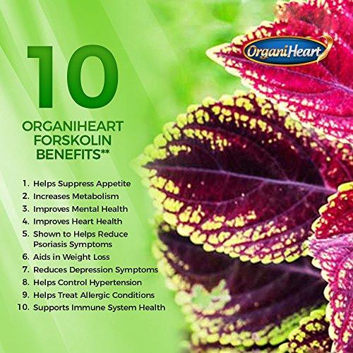 OrganiHeart- Forskolin 40% Standardized 60 Capsules