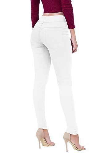 Hybrid & Company Women's Butt Lift V2 Super Comfy Stretch Denim Skinny Jeans