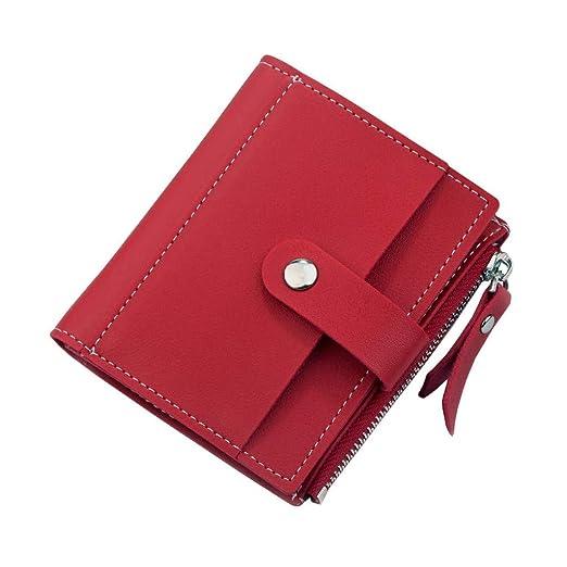 Womens RFID Mini Soft Leather Bifold Wallet With ID Window ...