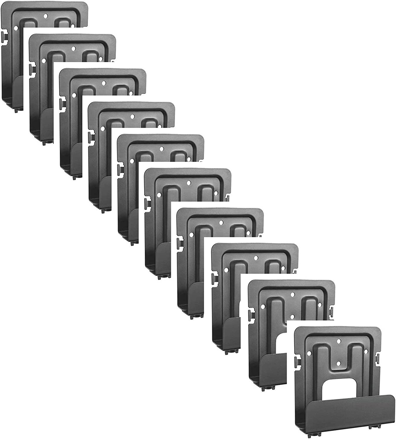 Mount Plus MP-APM-06-02 10 Pack Streaming Media Player Wall Mounting Bracket for Wide Range of Media Players, Cable and Satellite Boxes, Game Console Such As Apple TV, PS4, Xbox One (10 Pack Wide)
