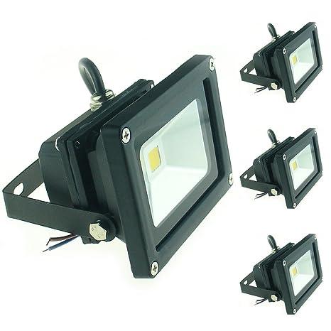 0a87ce650da86 QUANS 10W 12V 24V DC AC LED Flood Light Lamp Floodlight Security Outdoor  Waterproof Ultra Bright Black