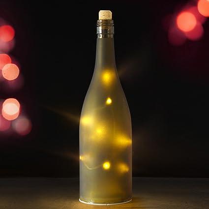 Bright Zeal Botella de Champán de luces LED estrellada de tamaño en la vida real con