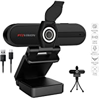 1080p Webcam PTZ VISION G2 with Microphone and Privacy Cover, Noise Reduction, Full HD Web Camera, for Online Class, Ms…