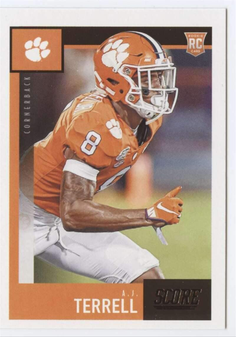 Amazon Com 2020 Score Football 399 A J Terrell Rc Rookie Card Clemson Tigers Official Ncaa Trading Card From Panini America Collectibles Fine Art