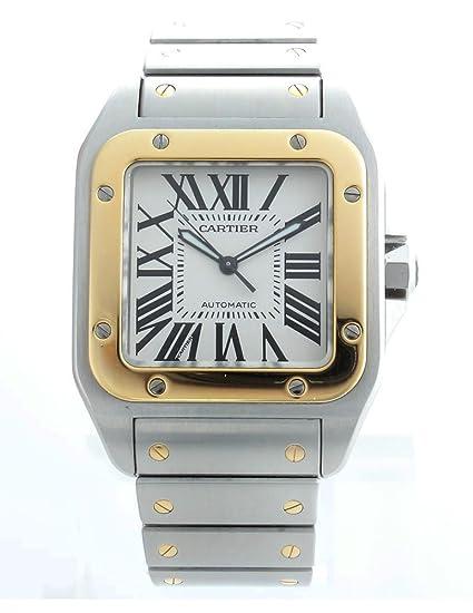 Cartier - Reloj de pulsera hombre, acero inoxidable, color plateado: Amazon.es: Relojes