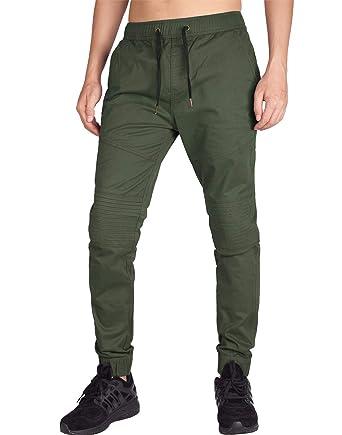 acb030cf2c ITALY MORN Men s Casual Jogger Pants Slim Fit Stretch Sweatpants at ...