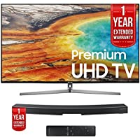 Samsung UN55MU9000 55 4K UHD Smart LED TV with HW-MS6500/ZA Sound+ Curved Soundbar and 1 Year Extended Warranty Bundle