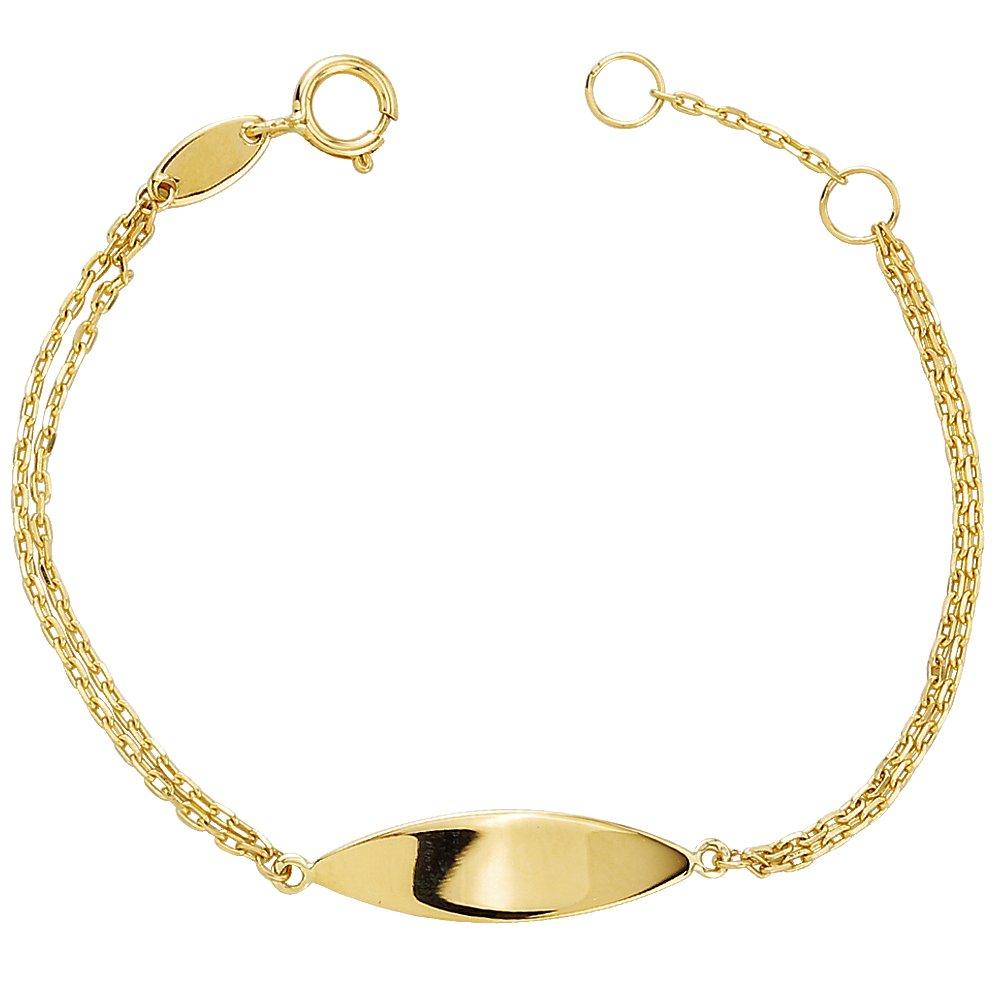 Newborn Baby Jewelry- Newborn Baby ID Bracelet in 14KY Gold