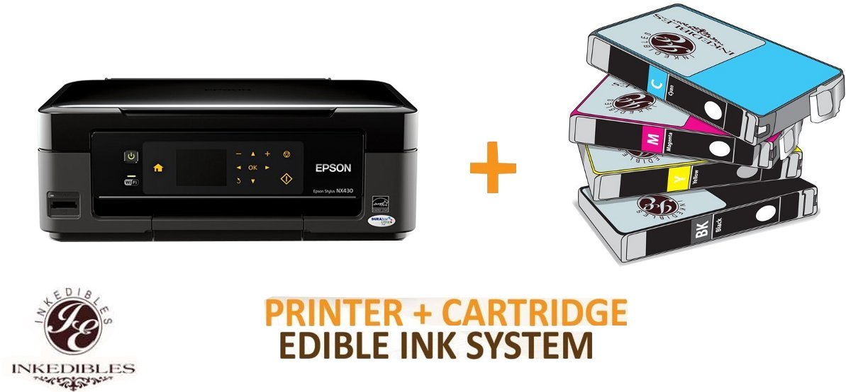 YummyInks Brand YummyInks Brand Epson NX430 Bundled Printing System - includes brand new wireless all-in-one printer and complete set of edible ink cartridges