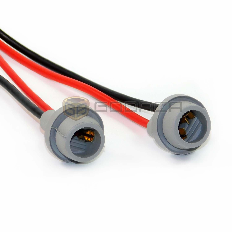 2x Connectors Socket Bulb Light Harness Pigtail T10 168 Centech Wiring 194 Rubber Wedge Le Automotive