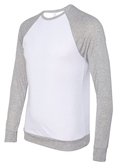 Bella + Canvas Lightweight Raglan Sleeves Pullover Sweater at Amazon Men s  Clothing store  753f5f8d5