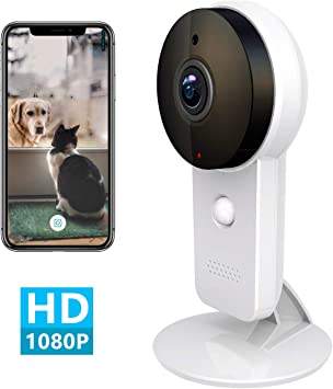 Android App Cloud Service Available UNIOJO WiFi Camera with Night Vision Movement Tracking Two Way Audio Home Camera Indoor Activity Alerts for Home//Office// Baby//Nanny//Pet Monitor with iOS