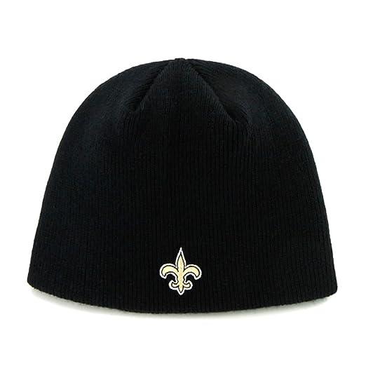 best sneakers b11cc 17ffc NFL New Orleans Saints  47 Beanie Knit Hat, Black, One Size