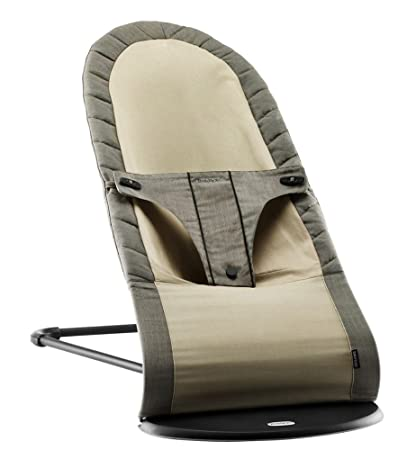 6324beb4d81 Amazon.com   BABYBJORN Babysitter Balance Organic - Walnut Khaki  (Discontinued by Manufacturer)   Infant Bouncers And Rockers   Baby
